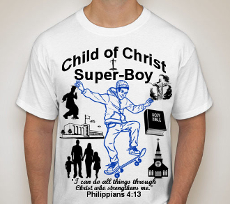 Super Boy Skateboard-Boys-white ss shirt