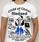 Blessed-Woman-white ss shirt