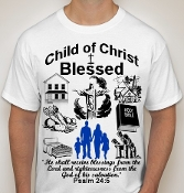 Blessed-Man-white ss shirt