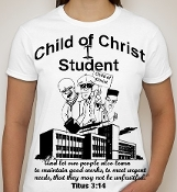 Student-Woman-black image-white ss shirt