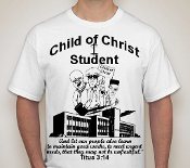 Student-Youth-black image-white ss shirt