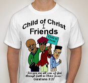 Friends-Man-Colored image-white ss shirt
