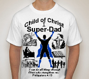 Super Dad-Man-white ss shirt