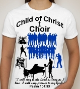 Choir-Woman-white ss shirt