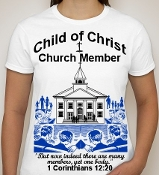 Church Member-Woman-white ss shirt