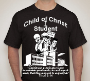 Student-Man-white image black ss shirt